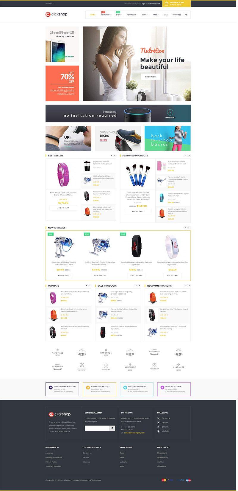 Mẫu web thương mại điện tử / T2012