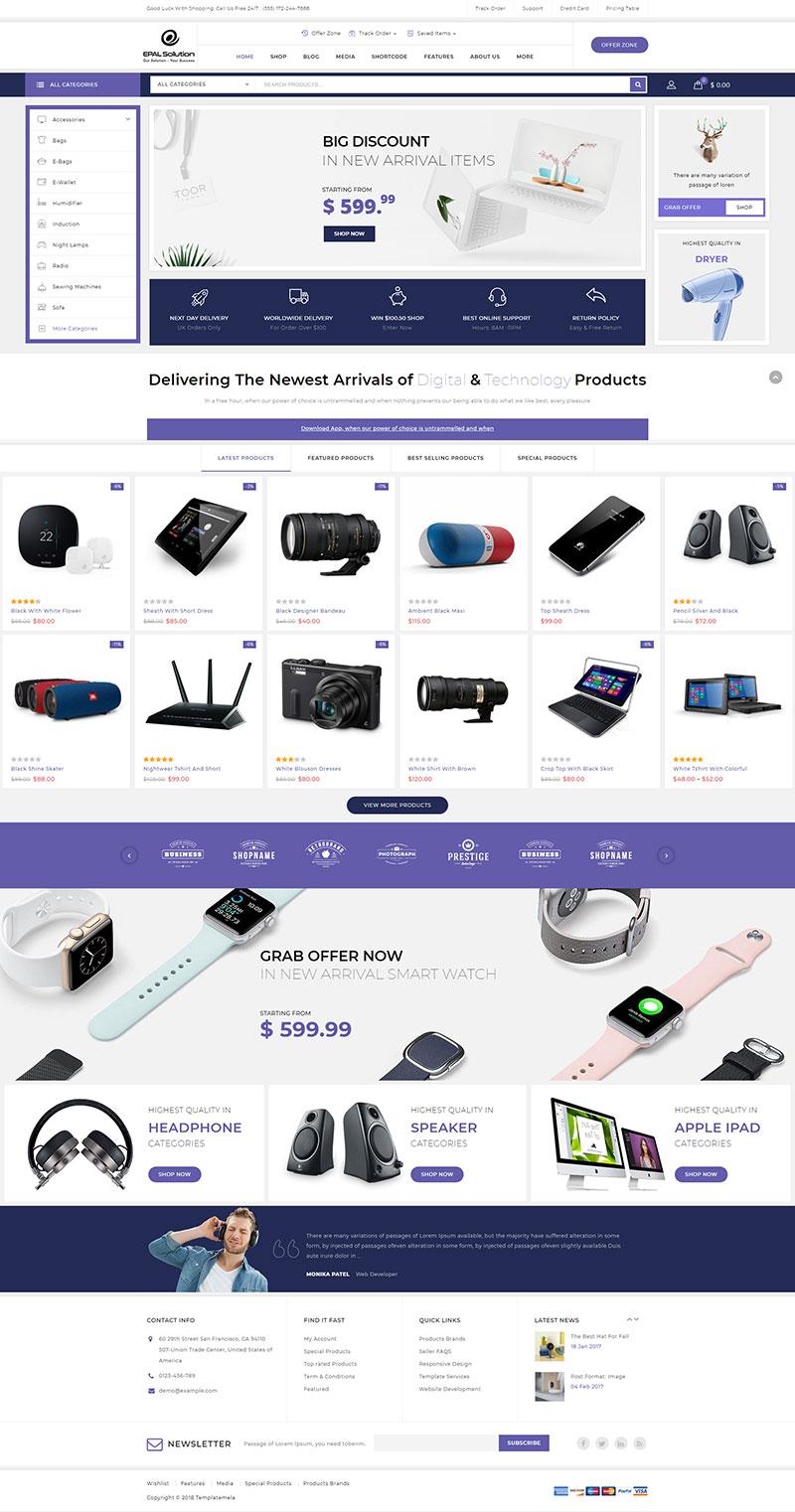 Mẫu web thương mại điện tử / T2002