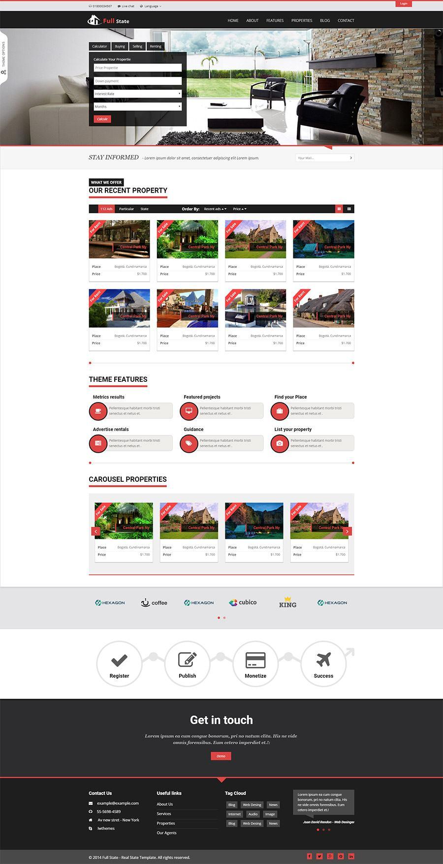 Mẫu web bất động sản / D1362