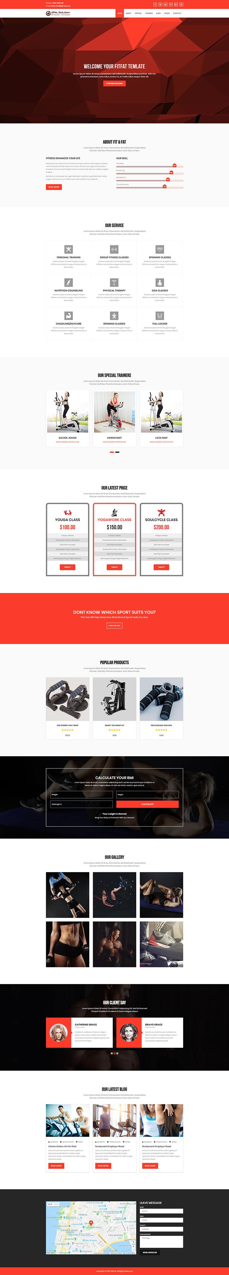 Mẫu Web Game Fit & Fat / G9876