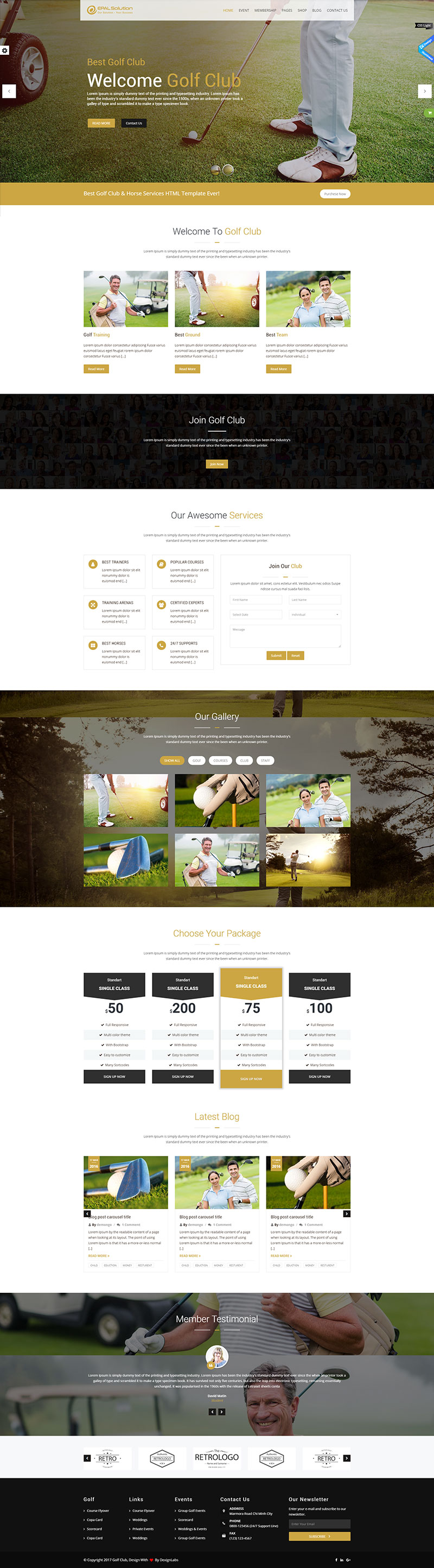 Mẫu Web Game Golf / G9878