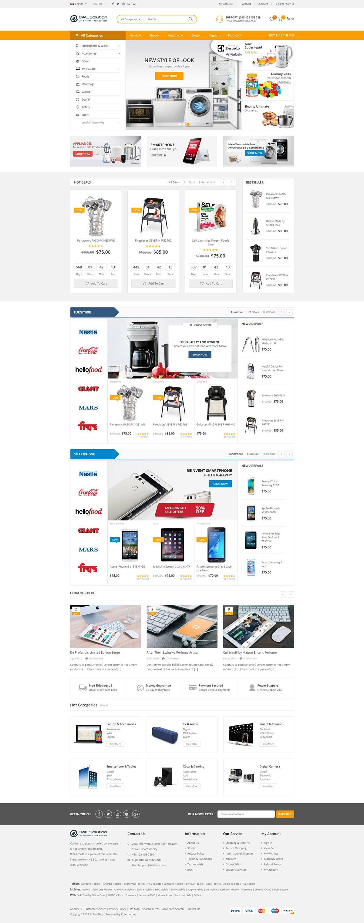 Mẫu web thương mại điện tử / T2014
