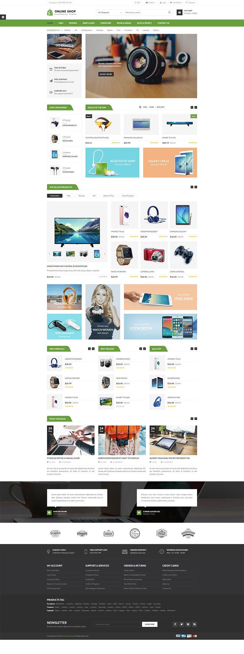 Mẫu web thương mại điện tử / T2003