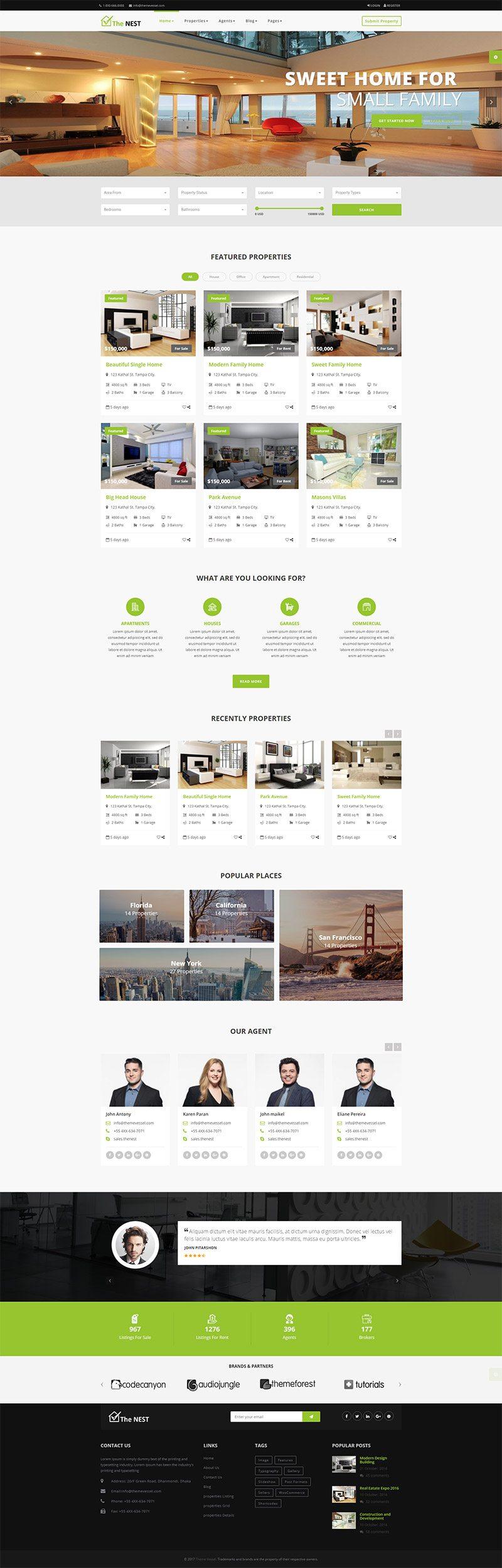Mẫu  web bất động sản / D1364