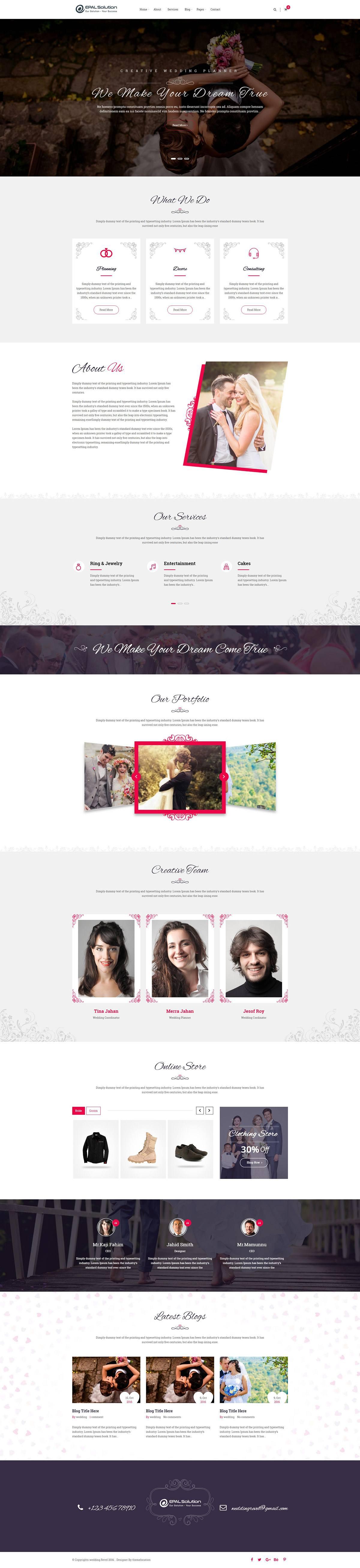 Mẫu Web Wedding / W1322