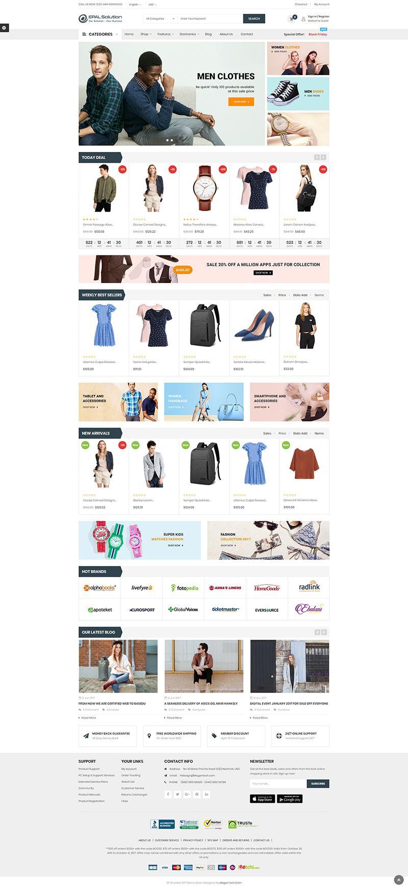 Mẫu web thương mại điện tử / T2015