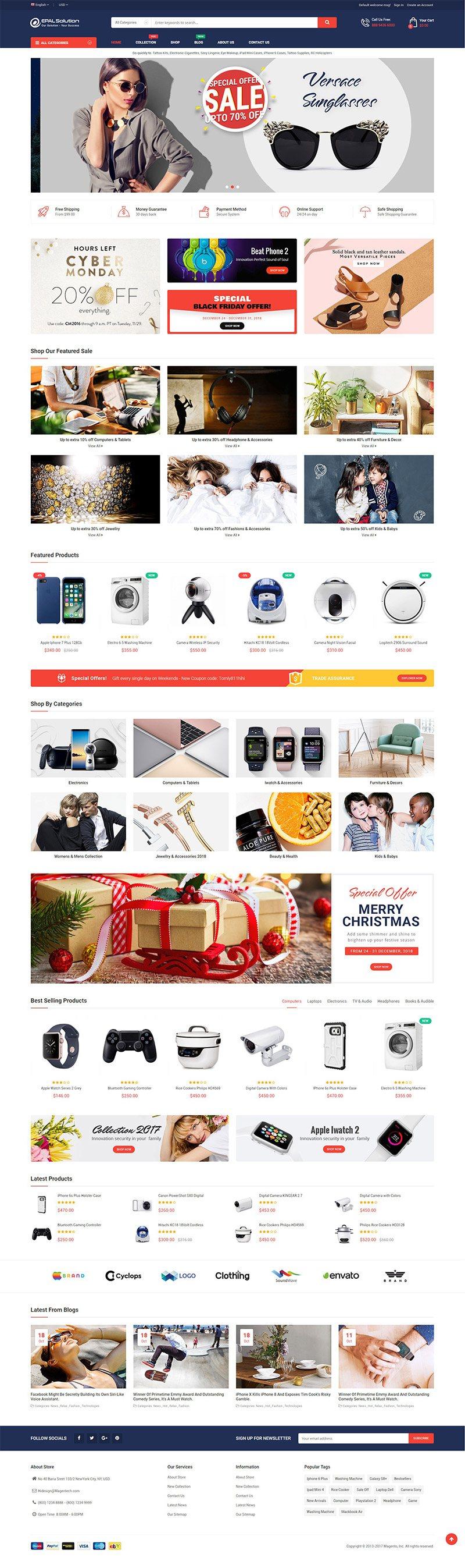 Mẫu web thương mại điện tử / T2016