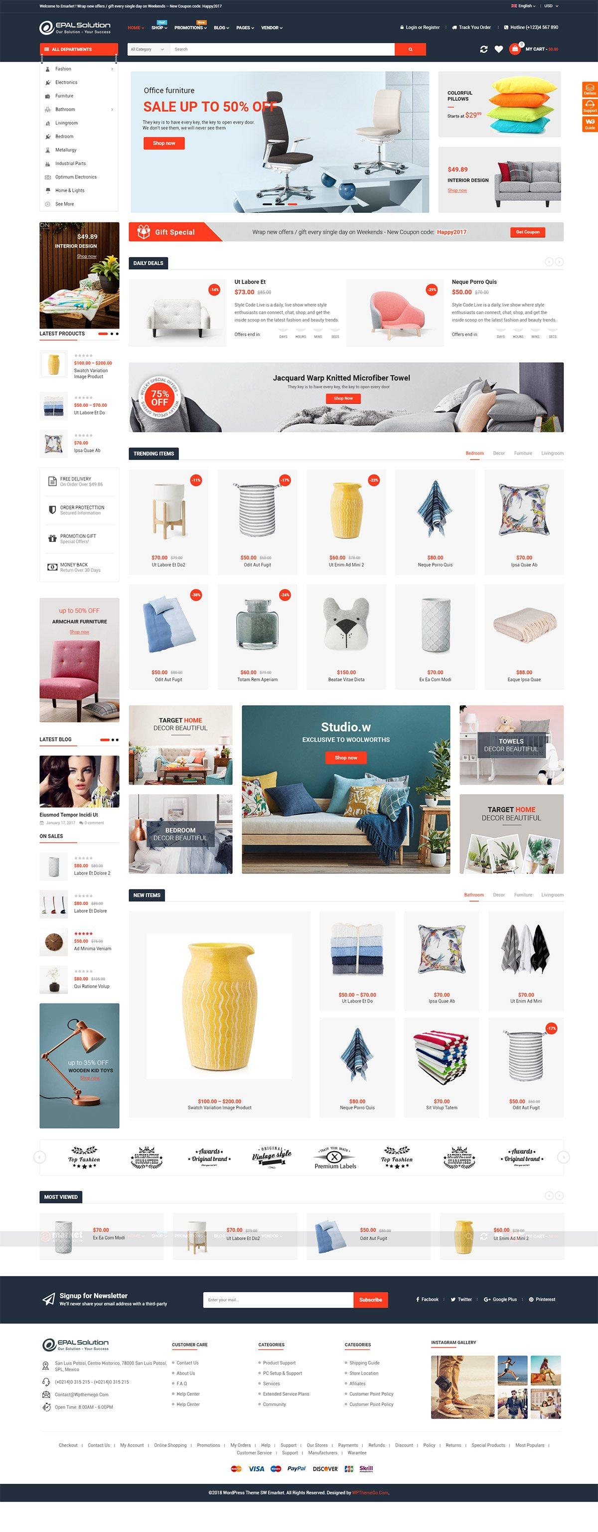 Mẫu web thương mại điện tử / T2013