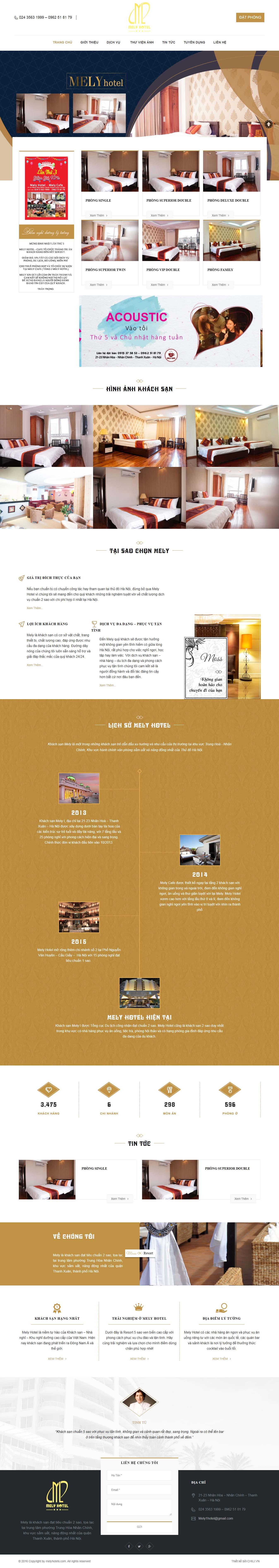 Mẫu Web Khách Sạn / K0167