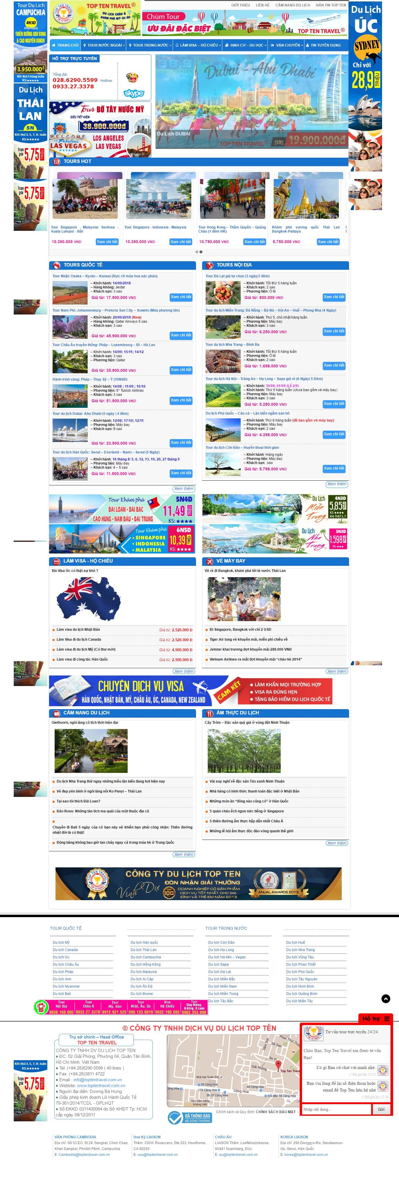 Mẫu Web Dịch Vụ Du Lịch / L0167