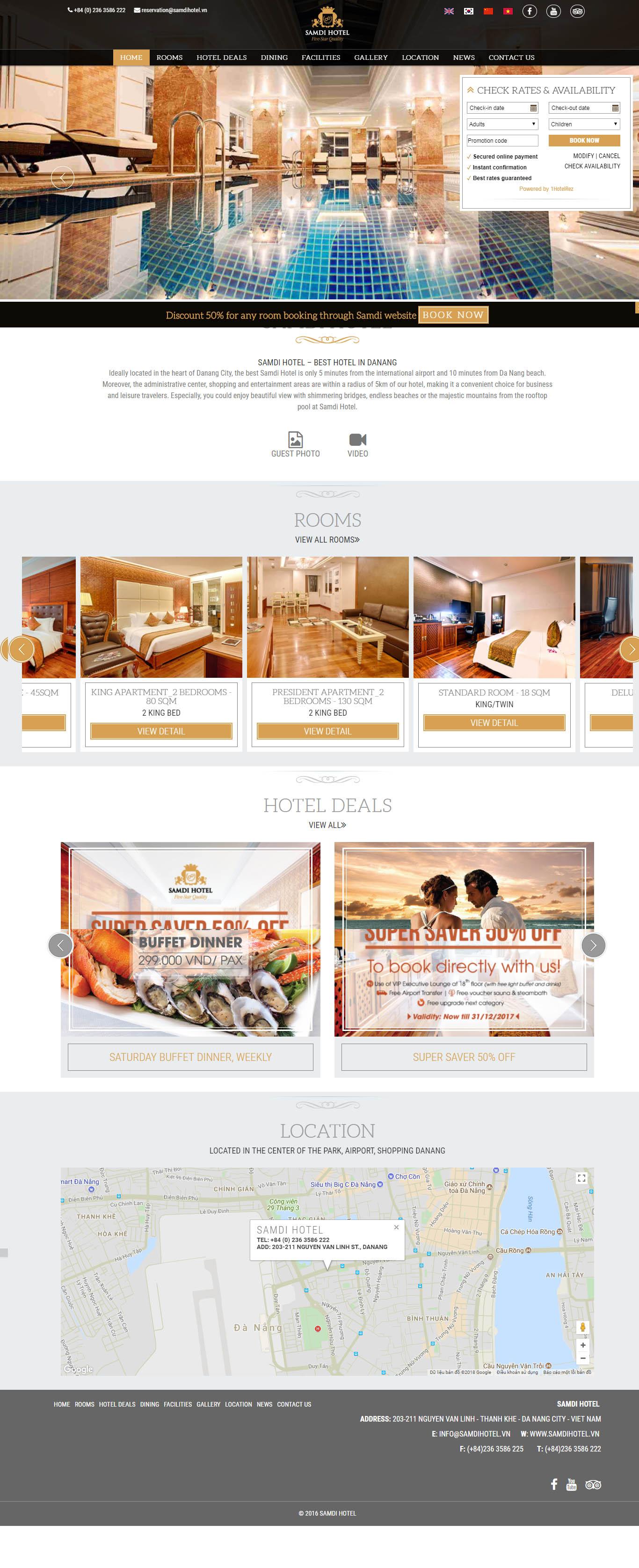 Mẫu Web Khách Sạn / K0169