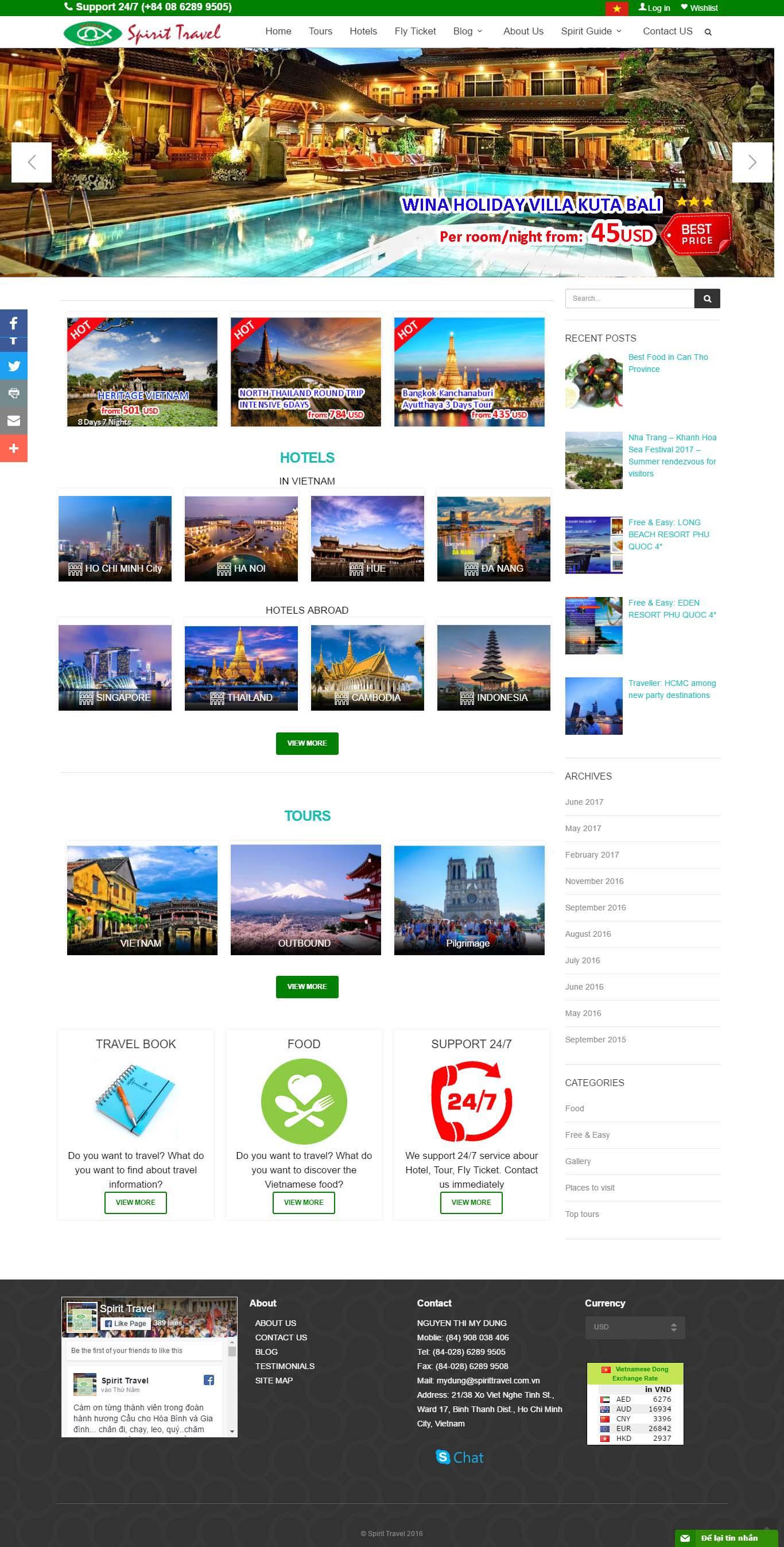Mẫu Web Dịch Vụ Du Lịch / L0170