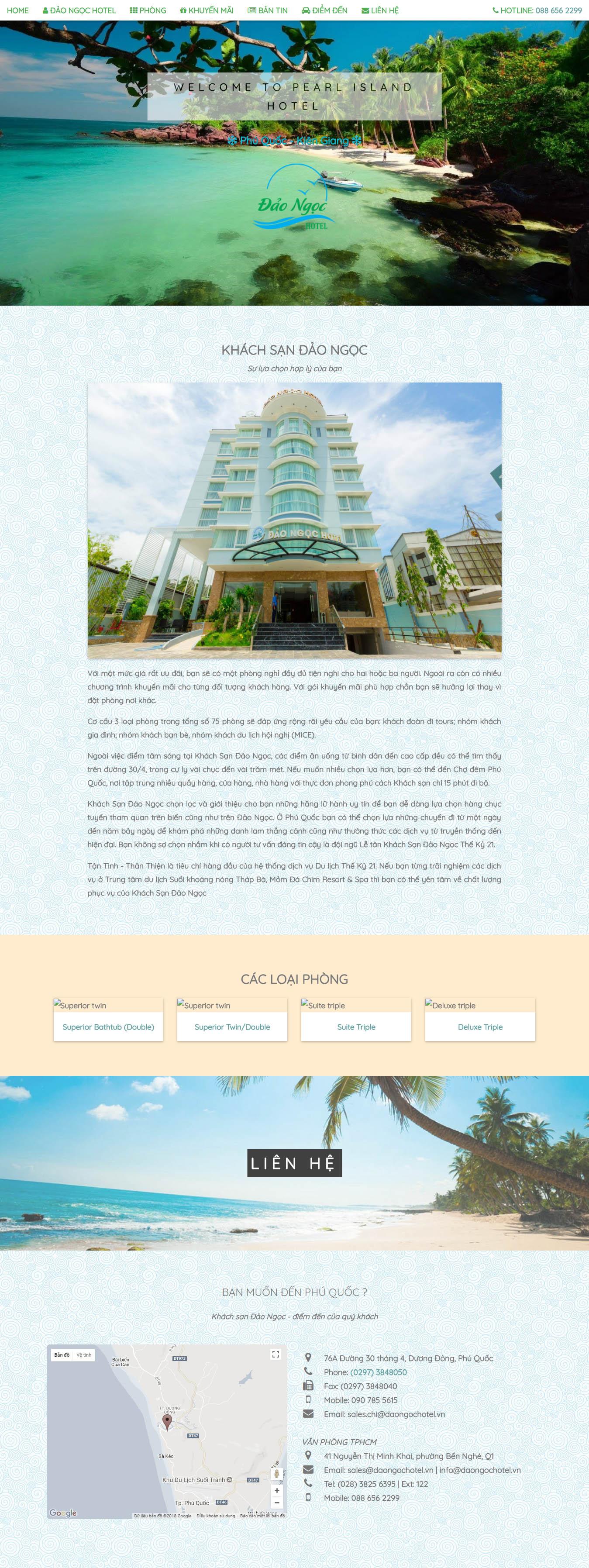 Mẫu Web Khách Sạn / K0171