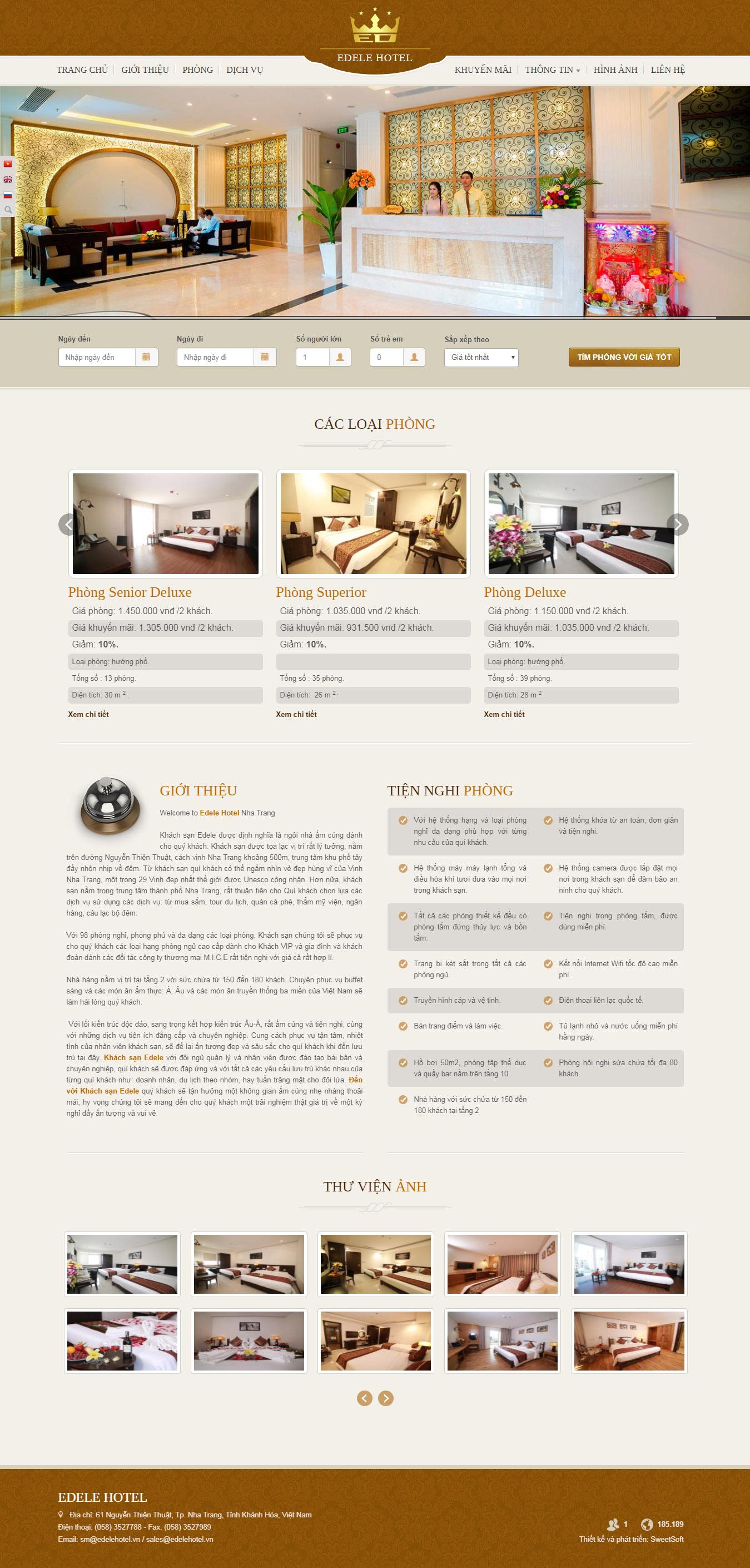 Mẫu Web Khách Sạn / K0172