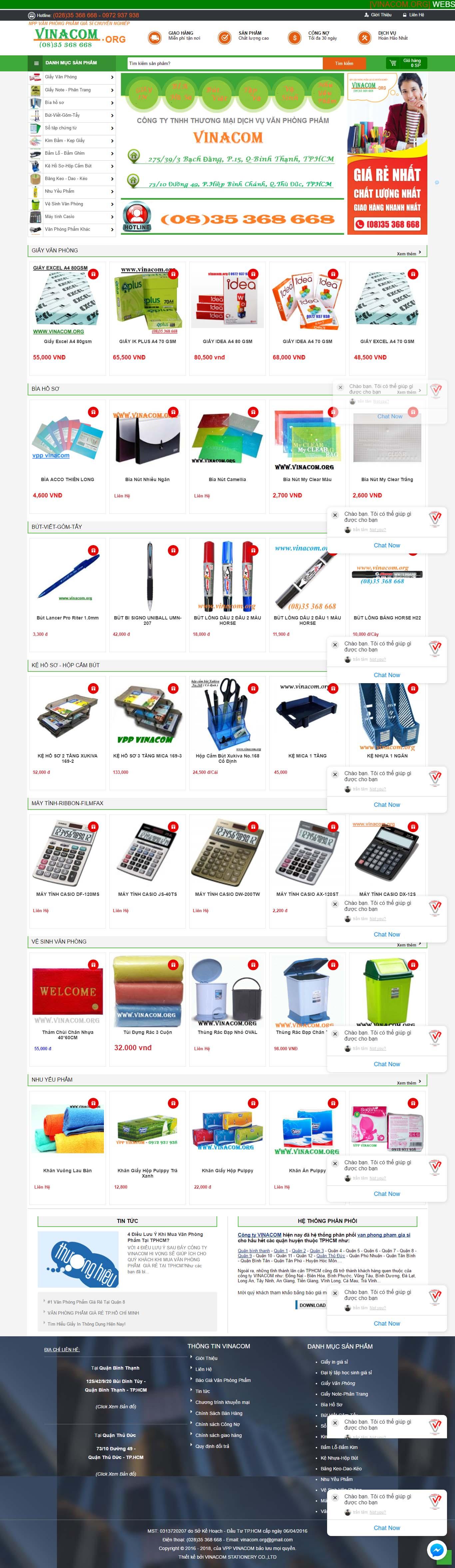 Mẫu Web Văn Phòng Phẩm / VPP0158
