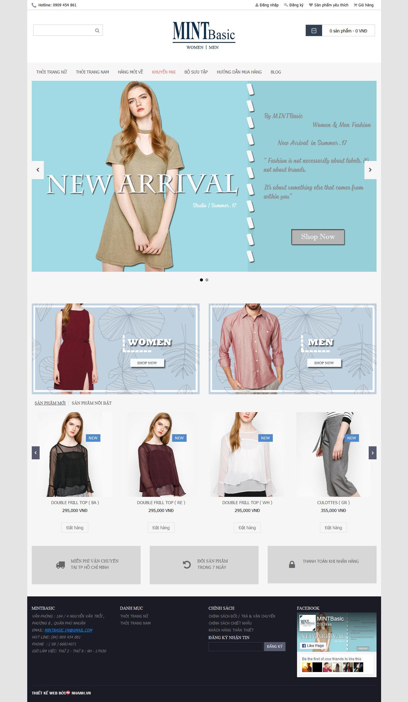 Mẫu Web Thời Trang / TT0158