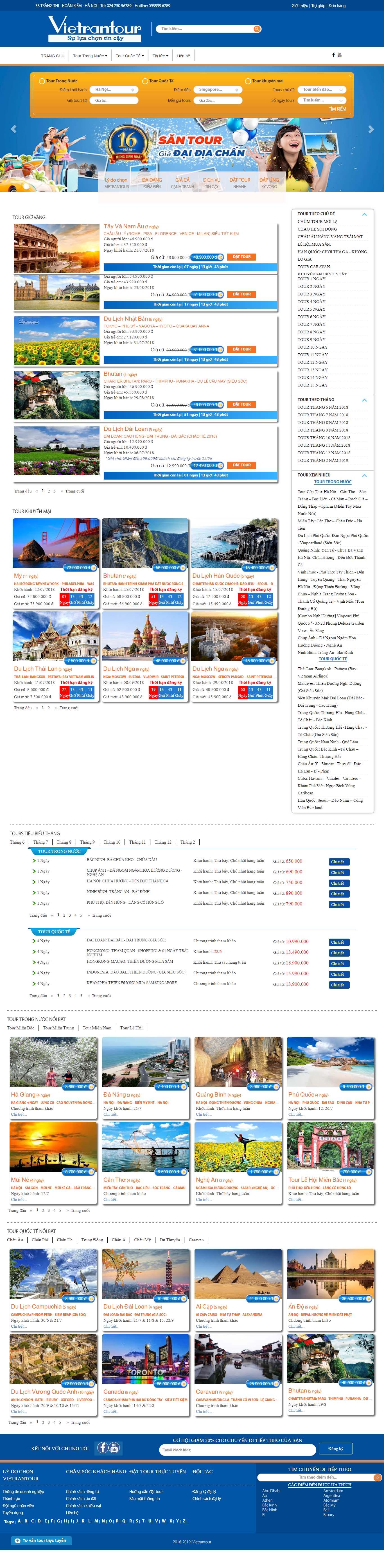 Mẫu Web Dịch Vụ Du Lịch / L0178