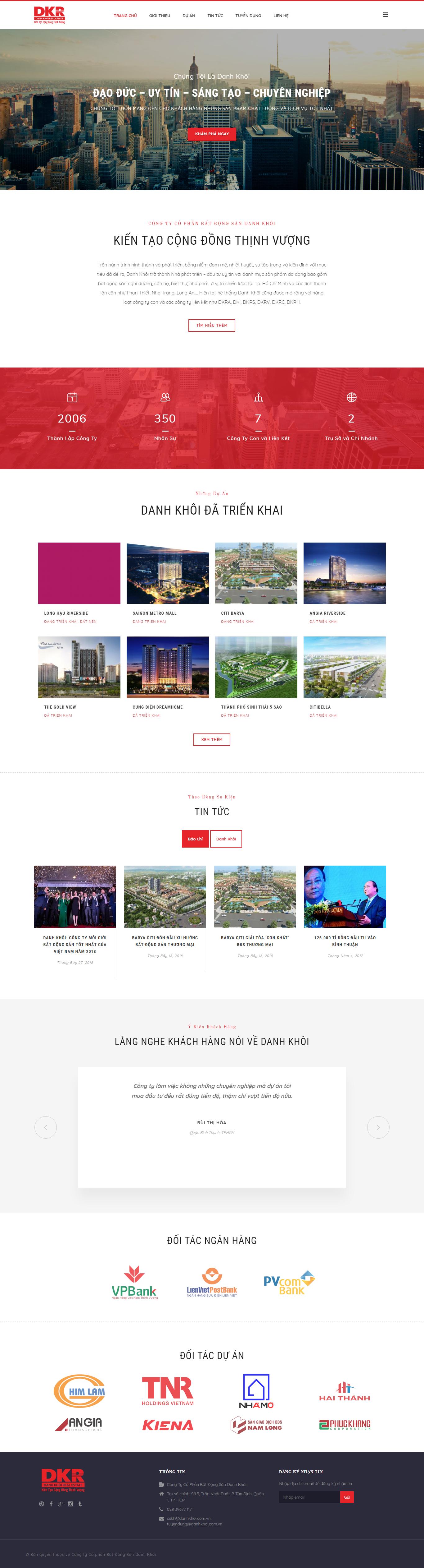 Mẫu Web bất động sản / D0184