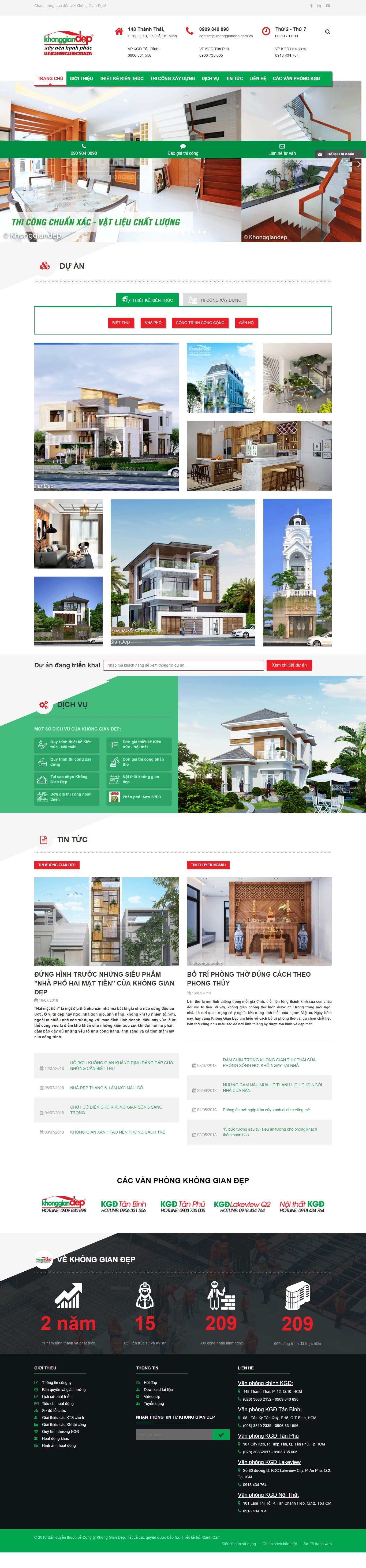 Mẫu Web bất động sản / D0193