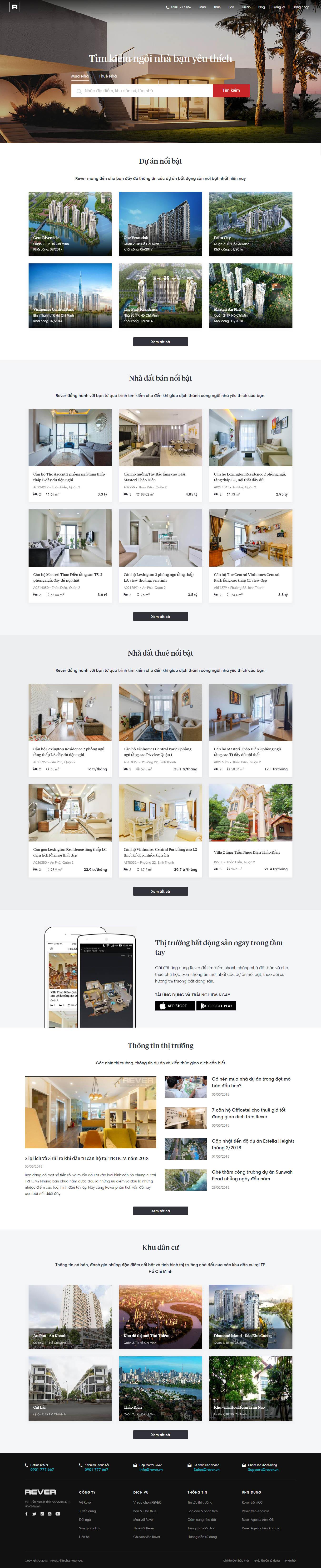 Mẫu Web bất động sản / D0204