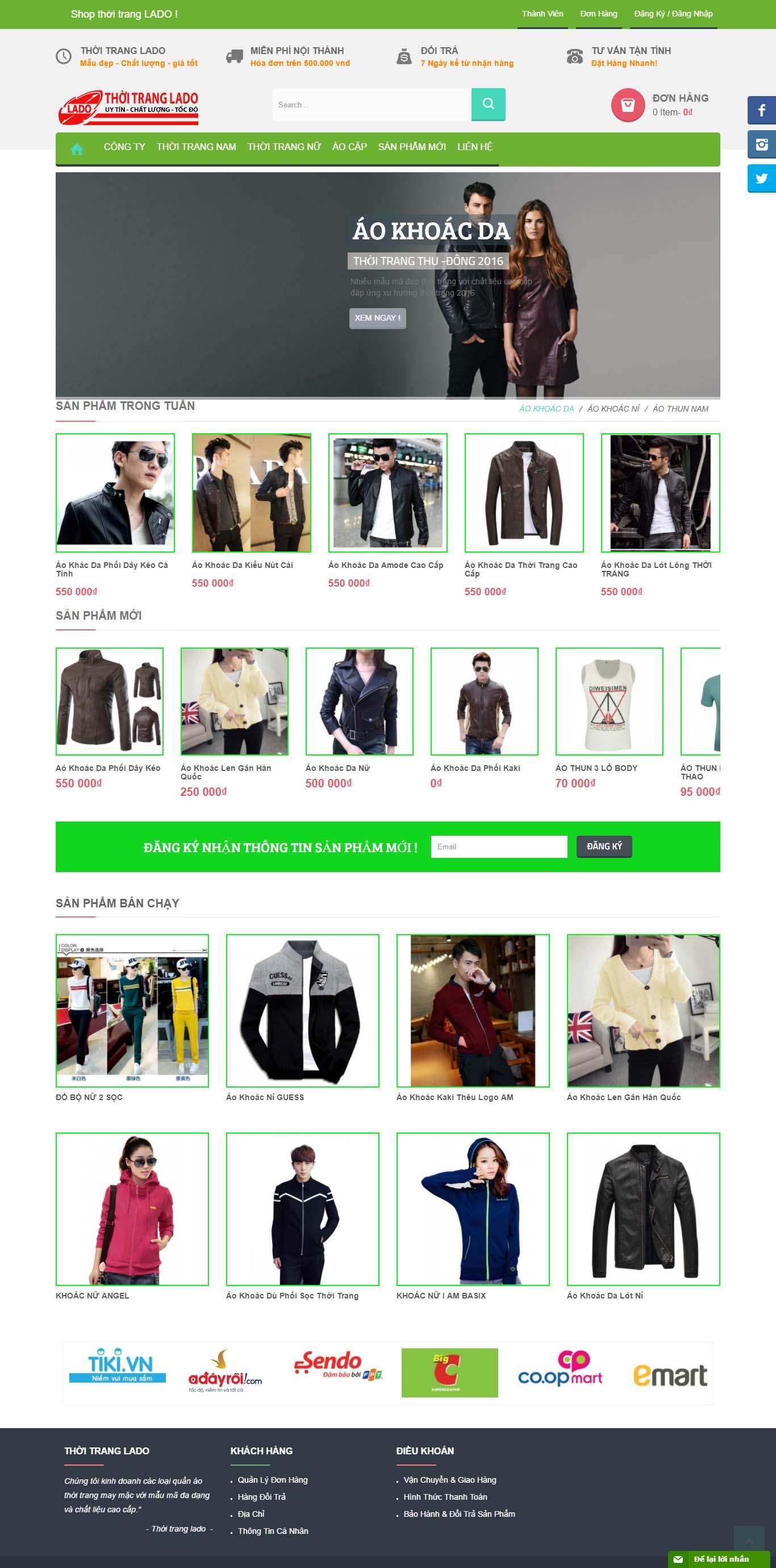 Mẫu Web Thời Trang / TT0161