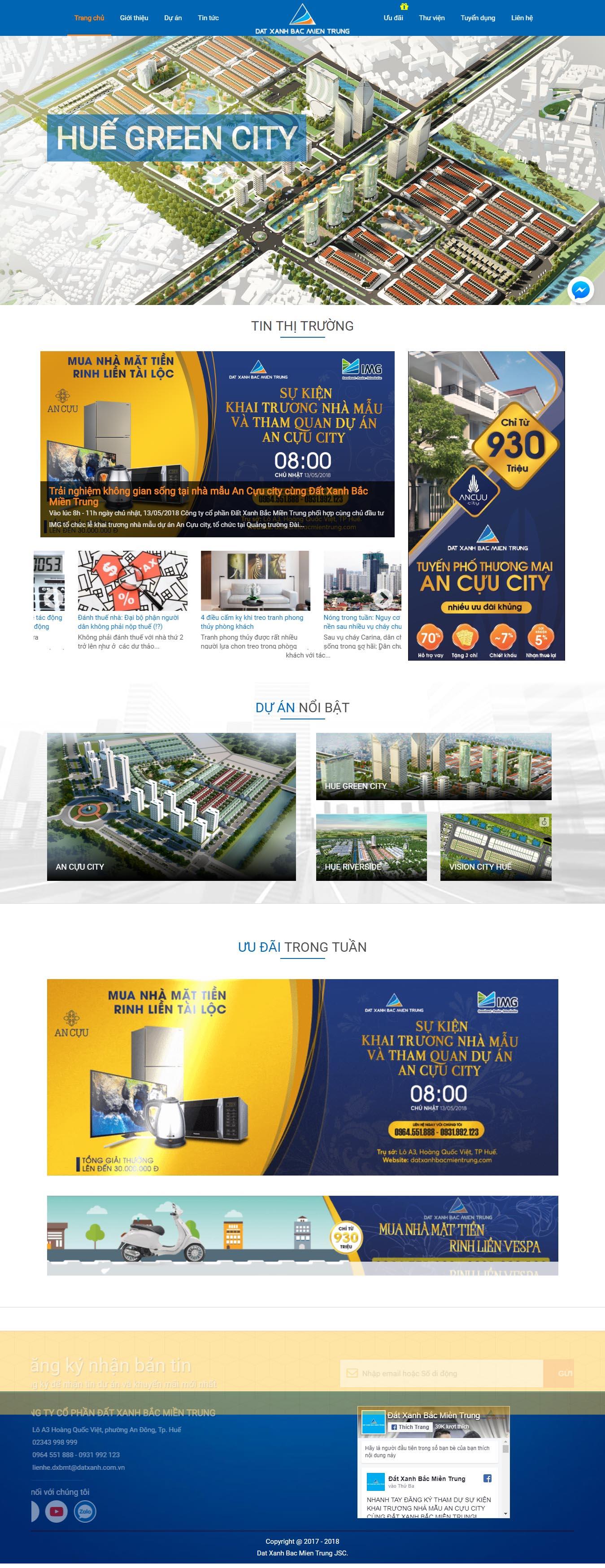 Mẫu Web bất động sản / D0206