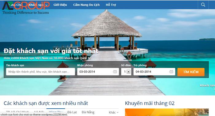 Vấn đề của website du lịch