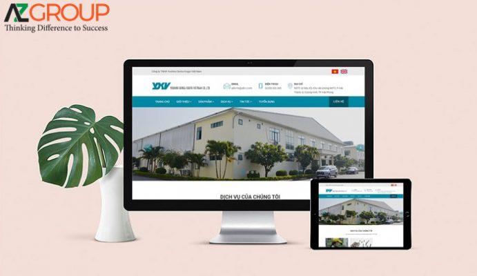 Dịch vụ chăm sóc website nhà máy