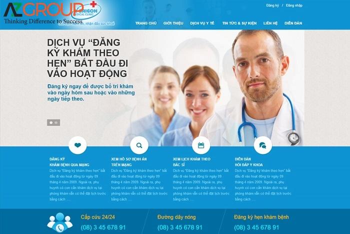 Website phòng khám nha khoa