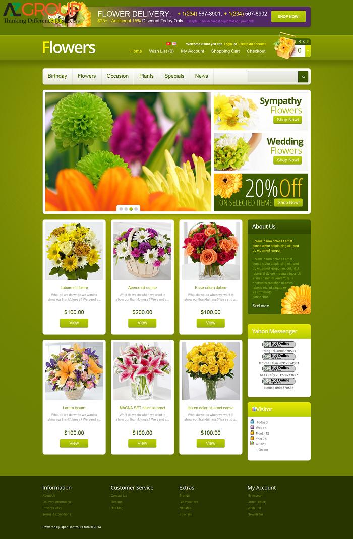 Chăm sóc website shop hoa