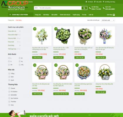 Dịch vụ chăm sóc website shop hoa