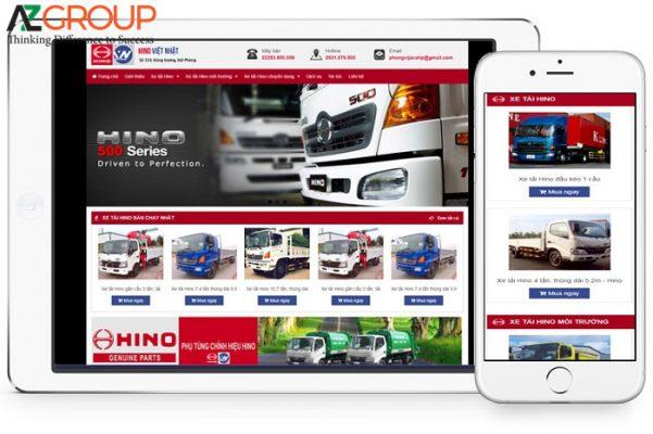 Dịch vụ chăm sóc website xe ô tô