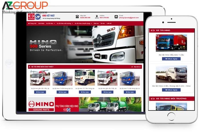 Website bán xe ô tô