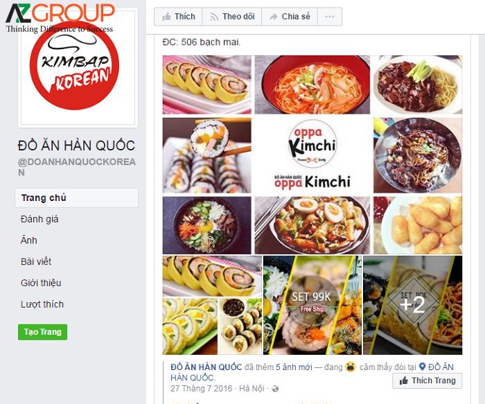 Fanpage ẩm thực