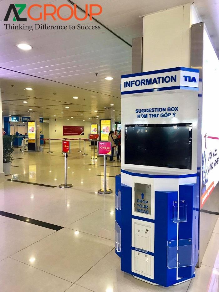 Quảng cáo bảng hộp đèn tại sân bay