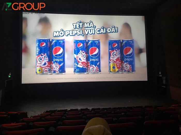 Quảng cáo được chiếu trong rạp Lotte Cinema