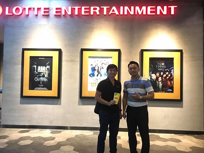 Azgroup hợp tác làm quảng cáo tại rạp Lotte Cinema Hà Nội
