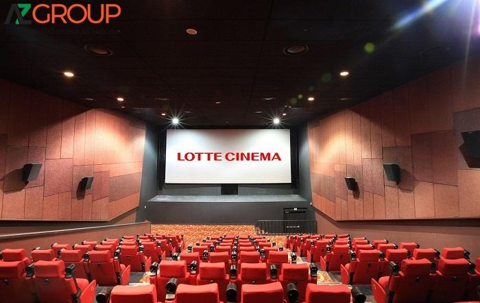 Quảng cáo tại rạp Lotte Cinema Hậu Giang