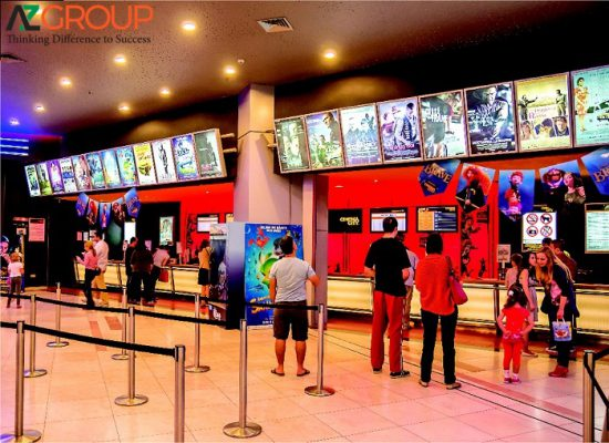 Quảng cáo tại rạp Lotte cinema Kiên Giang