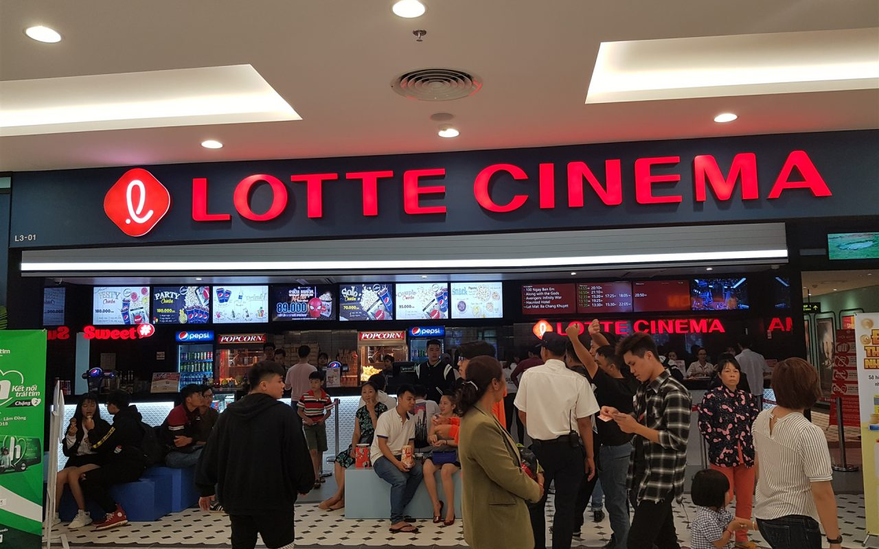 Quảng cáo tại rạp Lotte Cinema thành phố Hồ Chí Minh