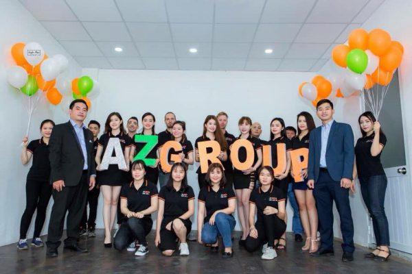 Đội ngũ nhân viên chuyên nghiệp tại công ty Azgroup