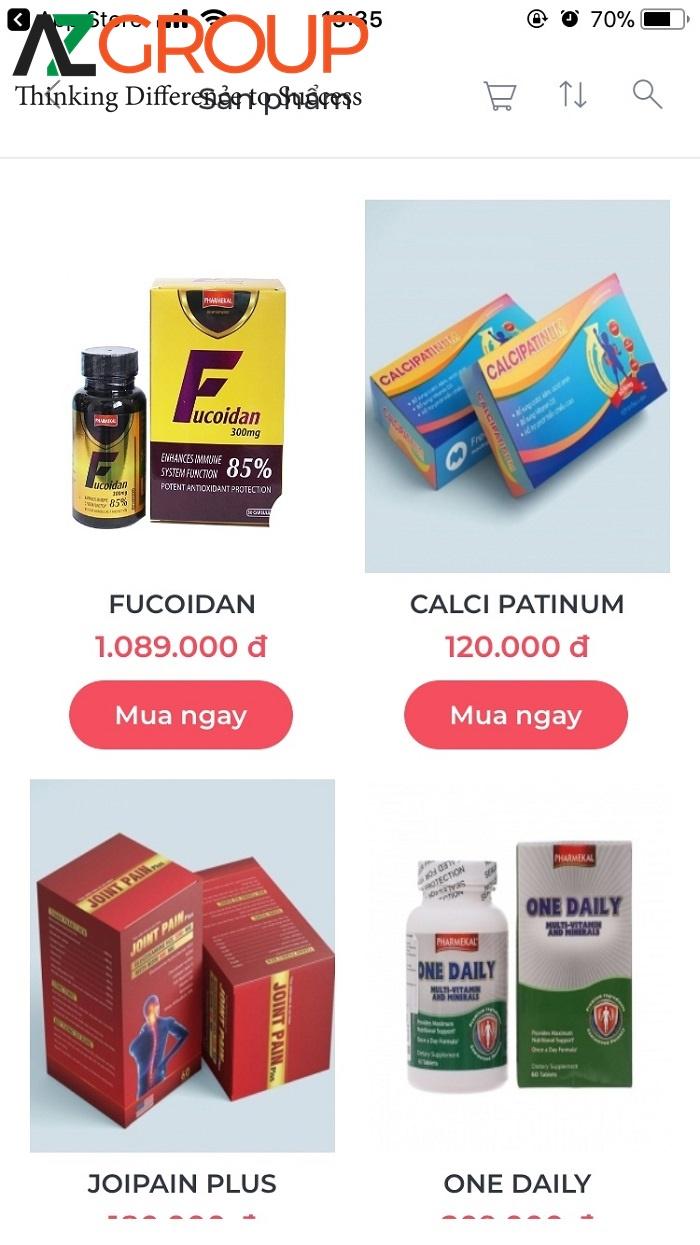 Thiết kế app bán hàng tại AZGROUP