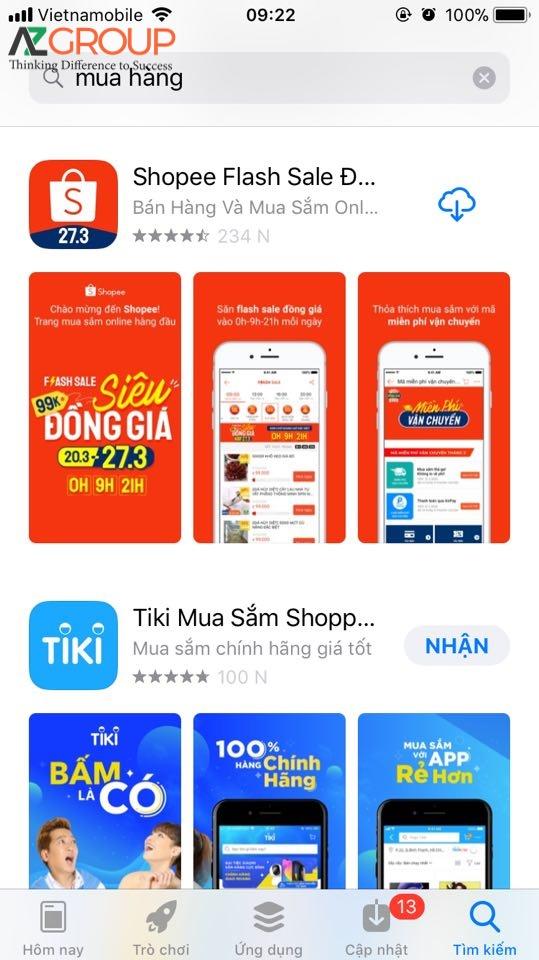 Sự phổ biến của thiết kế app
