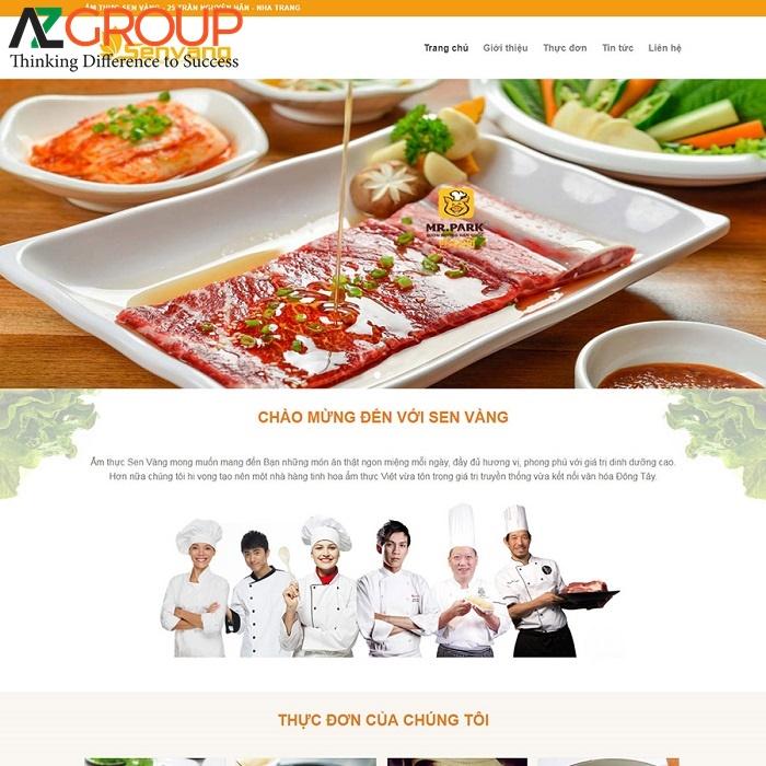 Đặc điểm của thiết kế website ẩm thực
