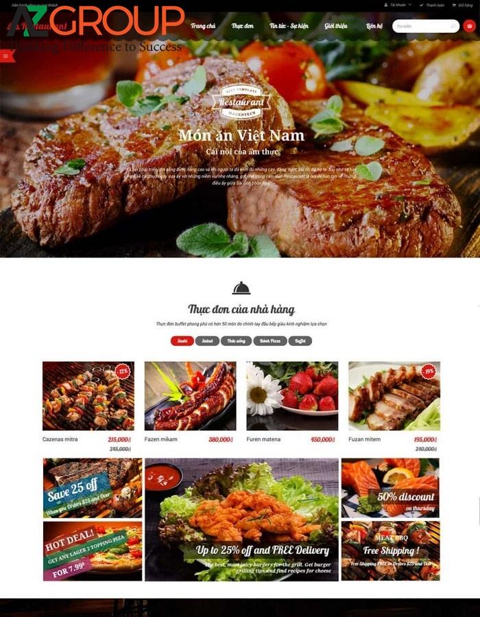 Lợi ích của thiết kế website ẩm thực