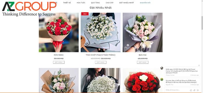 Tại sao phải thiết kế website shop hoa tươi?