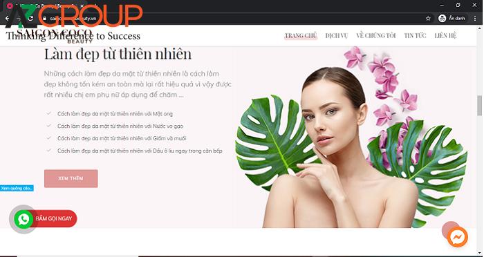 Thiết kế website Spa làm đệp được AZGroup thực hiện