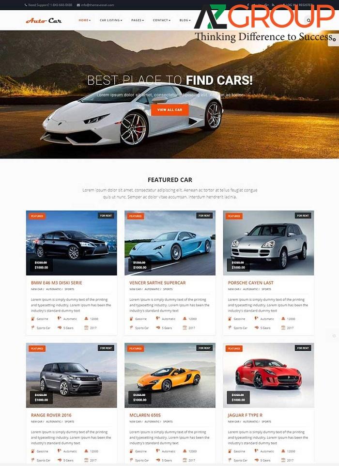Lợi ích của thiết kế website xe hơi