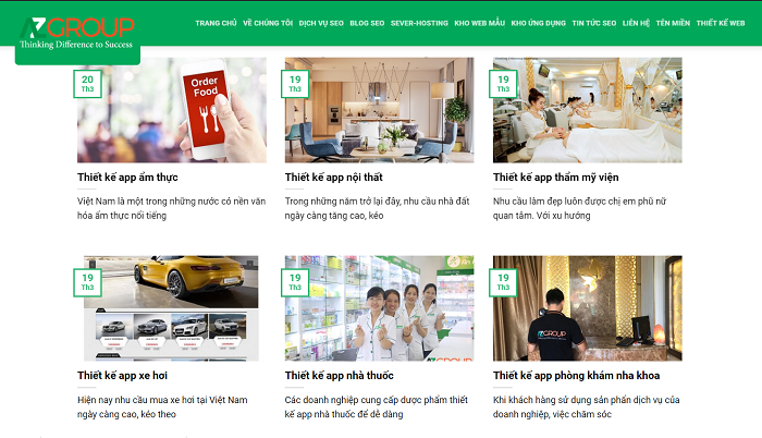 The process of app design service in Tien Giang at AZGroup